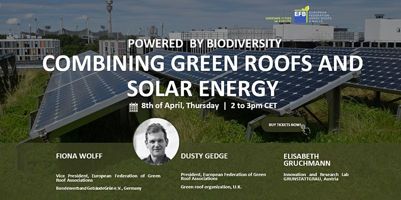 Powered by biodiversity - Combining green roofs and solar energy