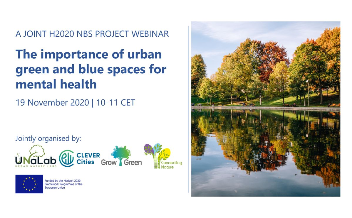 Webinar: The importance of urban green and blue spaces for mental health